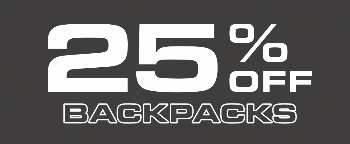 25% Off Backpacks
